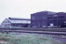 Michigan Central Shops in 1974 (now the Elgin County Railway Museum)